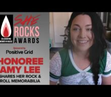 EVANESCENCE's AMY LEE Shows Off Her Memorabilia (Video)