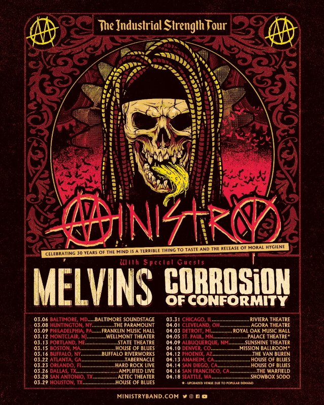 MINISTRY's U.S. Tour Moved To March/April 2022 Due To COVID-19 Concerns
